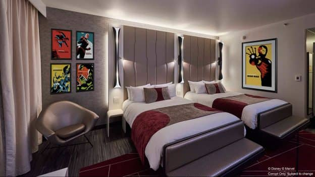 Disney's Hotel New York – The Art of Marvel Resort Room