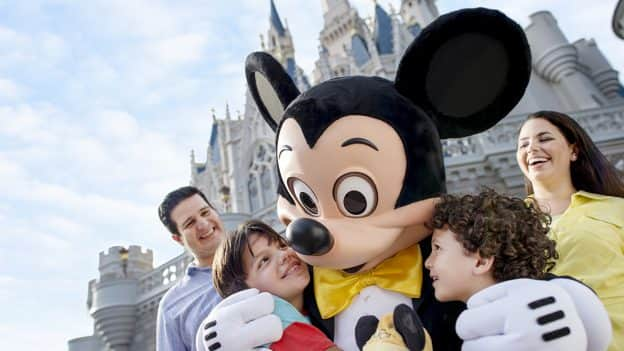 Mickey and guests at Magic Kingdom Park