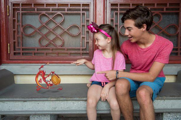 Mushu Magic Shot from Disney PhotoPass at the China Pavilion in Epcot