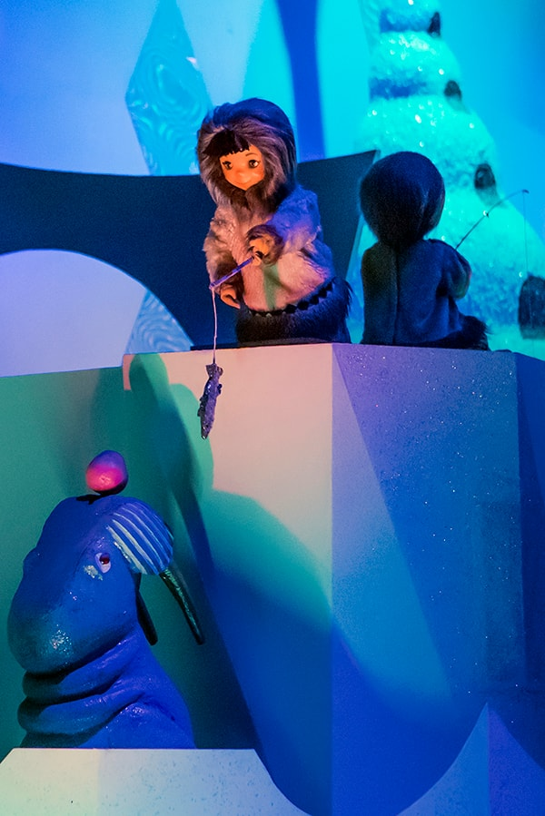 Eskimo fishing near its igloo at it's a small world at Disneyland park