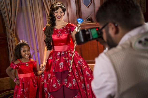 Girl Meets Princess Elena of Avalor at Magic Kingdom Park