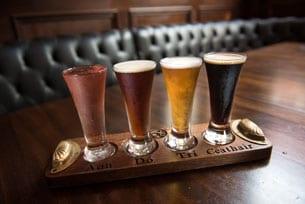 Beer flight at Raglan Road at Disney Springs