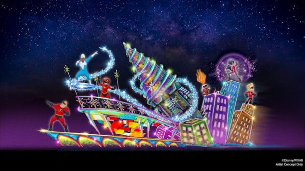 New 'Incredibles' Float Coming to 'Paint the Night' Parade at Disney California Adventure Park