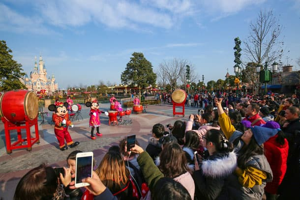 Mickey Avenue Drum Ceremony at Shanghai Disney Resort