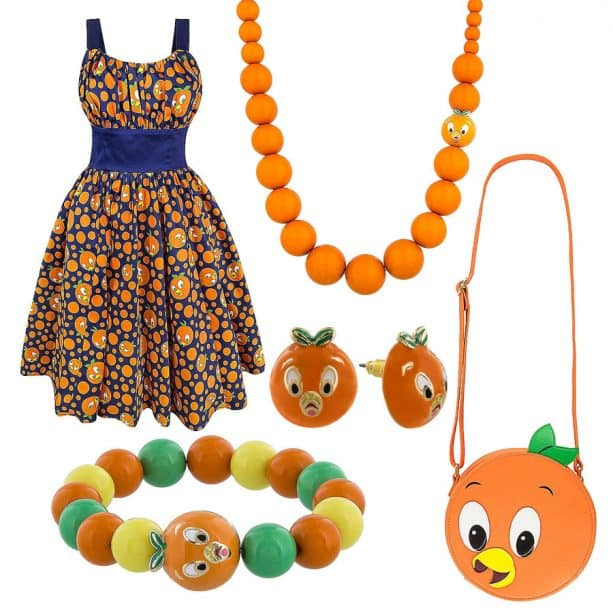 Orange Bird Dress and Accessories