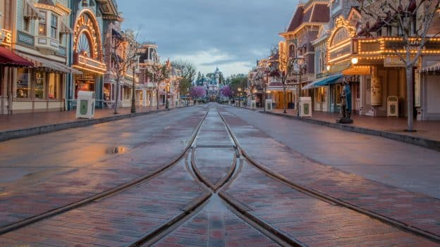 Main Street, U.S.A., at Disneyland Refurbished