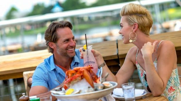Couple Dining at The BOATHOUSE