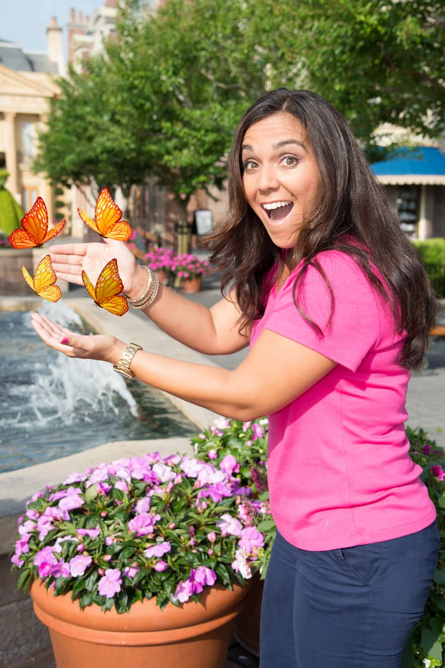 Disney PhotoPass Magic Shots During the Epcot International Flower & Garden Festival