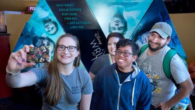 Disney Park Blog readers taking a selfie at the 'Wrinkle In Time' Meet-Up