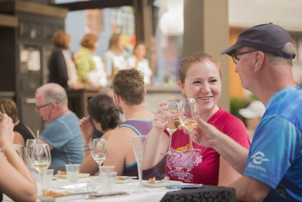 Family Enjoying Disney California Adventure Food & Wine Festival Cooking Demonstration