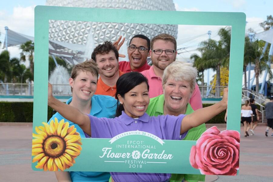 Disney PhotoPass - Epcot Internaional Flower & Garden Festival photo frame