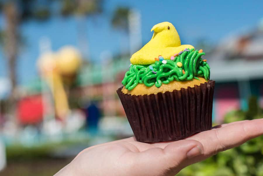 Marshmallow Chick Cupcake at Intermission Food Court at Disney's All-Star Music Resort