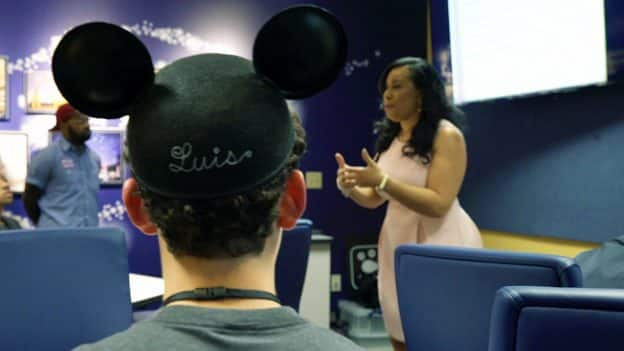 Disney Dreamers Acadmey - Luiz wearing mickey mouse hat
