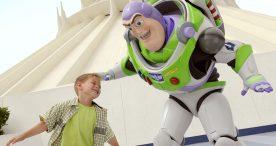 Buzz Lightyear, boy at Disneyland Resort