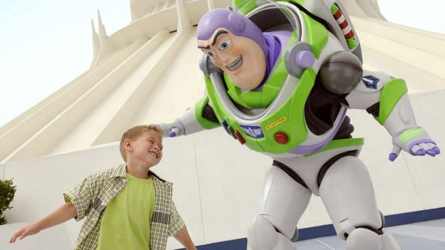 Buzz Lightyear, boy at Disneyland Resort
