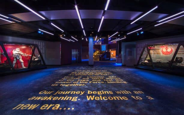 Star Wars Launch Bay in Disneyland park