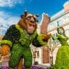 Belle and Beast topiaries at the Epcot International Flower & Garden Festival