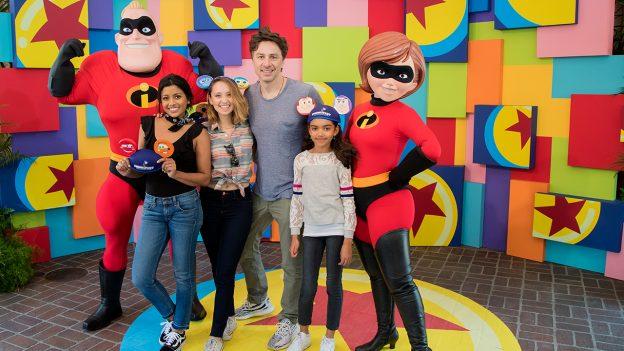 Zach Braff and Stars from ABC's 'Alex, Inc.' Visit Disneyland Resort