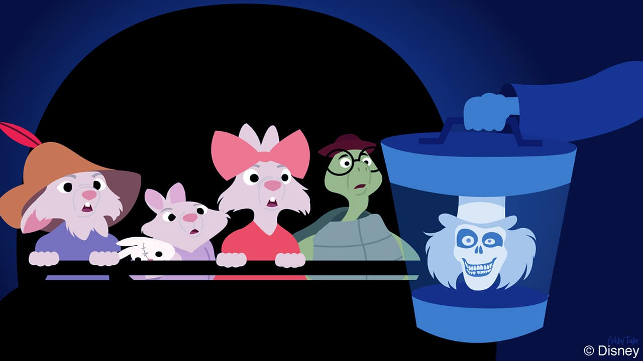 Disney Doodle Skippy Amp Friends From Robin Hood Puts Their Bravery To The Test At The Haunted