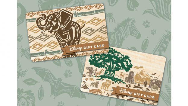 New gift cards to celebrate Disney's Animal Kingdom 20th anniversary