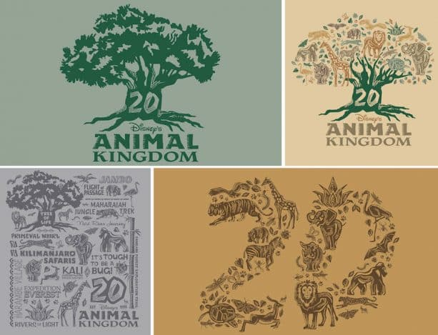 Disney's Animal Kingdom 20th Anniversary Logo Art