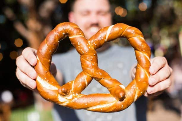 Bavarian Pretzel at Sonoma Terrace at Disney California Adventure Park