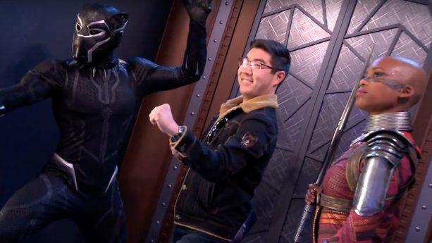 Guest meet Black Panther at Disney California Adventure park