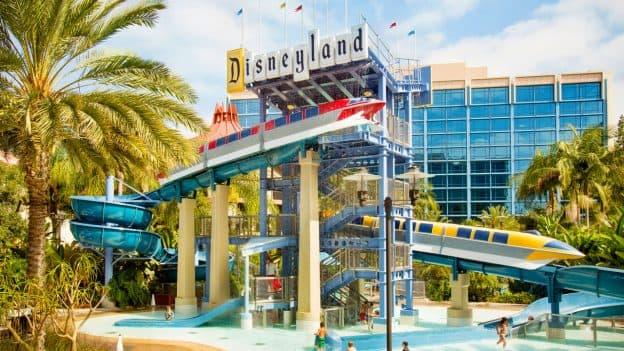 Monorail Waterslides and Pool at the Disneyland Hotel