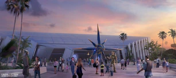 Guardians of the Galaxy themed attraction