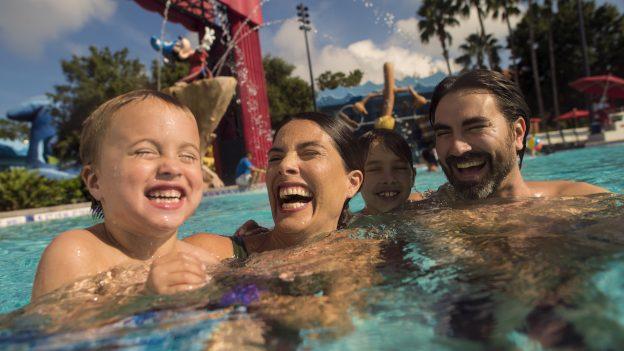 Family Swimming at All Star Movies Resort
