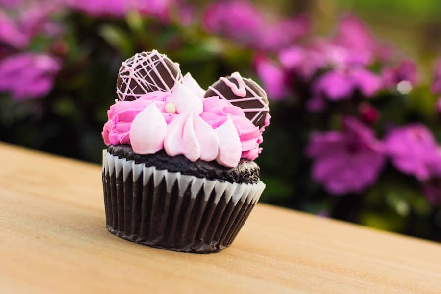 Millennial Pink Chocolate Cupcake at Riverside Mill at Disney's Port Orleans – Riverside Resort