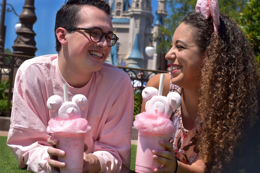 Millennial Pink Milkshake at Auntie Gravity's Galactic Goodies at Magic Kingdom Park