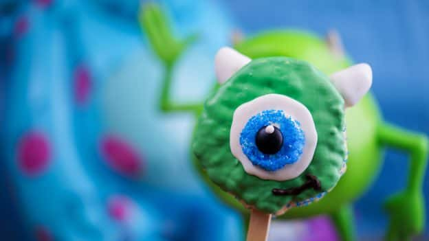 Mike Wazowski Crisped Rice Treat for Pixar Fest at Trolley Treats in Disney California Adventure Park