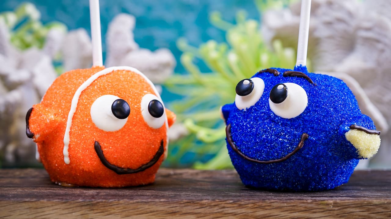 Nemo and Dory Apples for Pixar Fest at Disneyland Resort