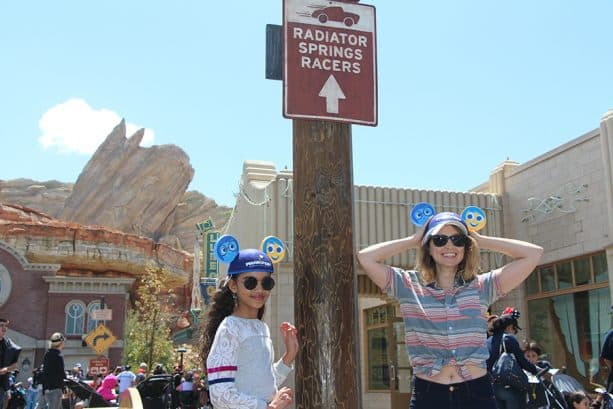 Some of the cast of ABC's Alex, Inc. visit the Disneyland Resort