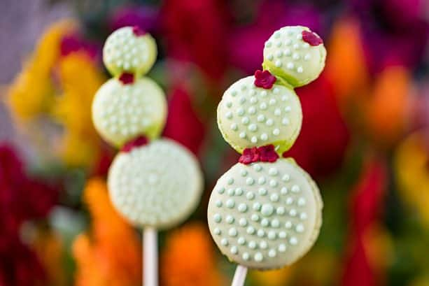 Cactus Macaron Lollipop for Earth Day at Amorette's Patisserie at Disney Springs