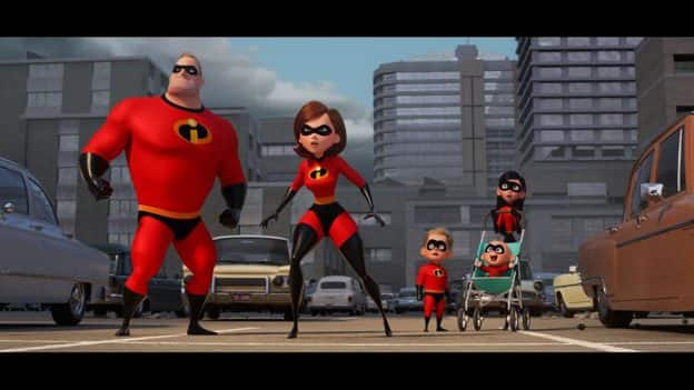 Incredibles family action shot