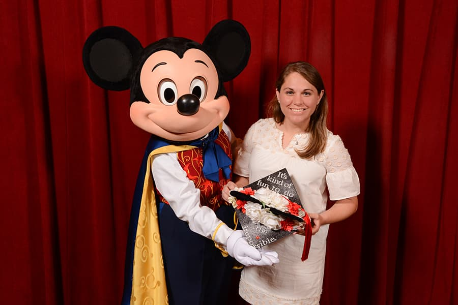 Mickey Mouse and graduate, Walt Disney World