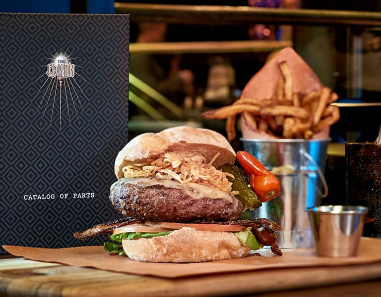 The Edison Burger, available at The Edison