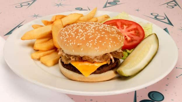 Classic Cheeseburger at Flo's V8 Café at Disney California Adventure Park