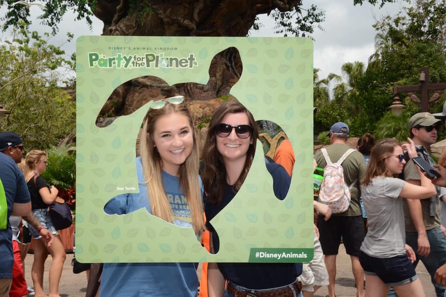 Guests enjoying Party for the Planet at Disney's Animal Kingdom