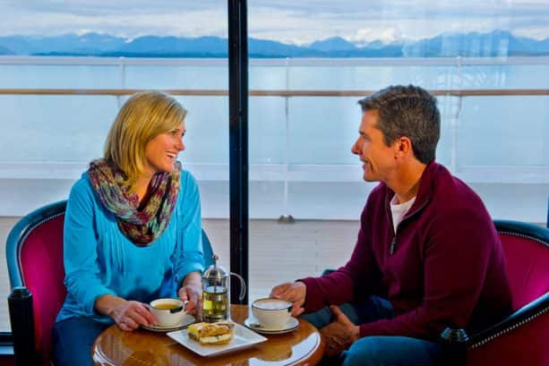 Sip hot chocolate and coffee in Cove Café aboard the Disney Wonder during your Disney Cruise in Alaska