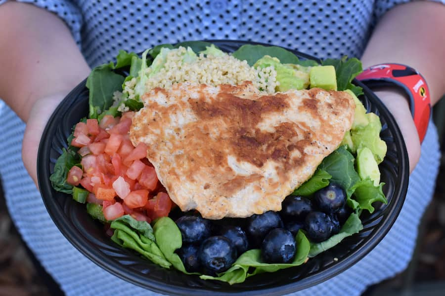 Super Foods Salad at Cosmic Ray's Starlight Café for the Incredible Tomorrowland Expo at Magic Kingdom Park