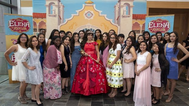 "Disney Channel series ""Elena of Avalor"" receives the Media Trailblazer Award, group photo"
