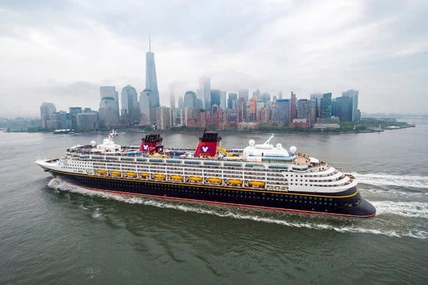 Disney Magic with the NYC skyline