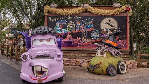 Haul-O-Ween at Radiator Springs is Disney California Adventure park at the Disneyland Resort
