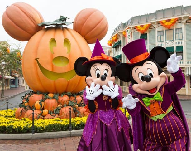 Minnie and Mickey Mouse at Halloween Time at the Disneyland Resort