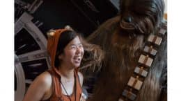 "Disney Parks Blog ""Solo: A Star Wars Story"" Meet-up guest with Chewbacca"