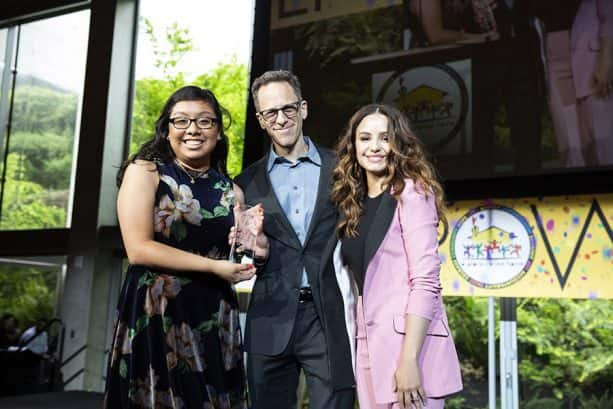 Craig Gerber, Aimee Carrero, accept Media Trailblazer Award
