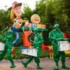 The Green Army Drum Corps in Toy Story Land